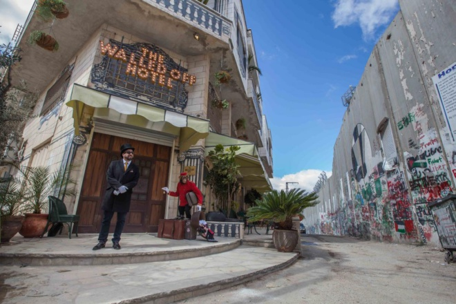Banksy's Walled Off Hotel: colonial luxury and dystopian misery